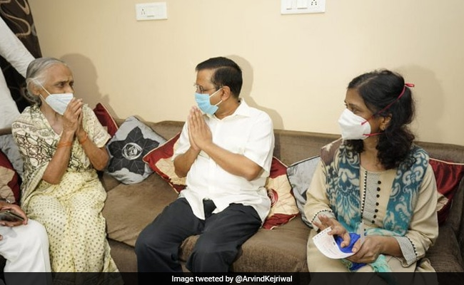 'People's Doctor': Arvind Kejriwal Meets Family Of Covid Warrior Who Died
