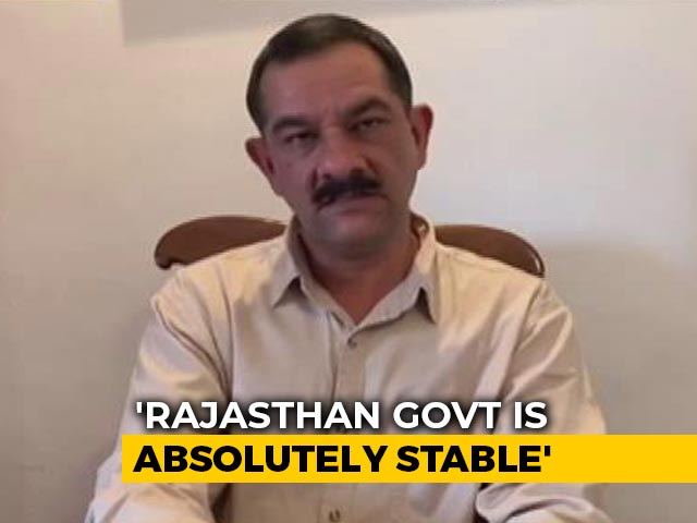 """Video : """"Rajasthan Government Is Absolutely Stable"""": Congress's Jitendra Singh To NDTV"""
