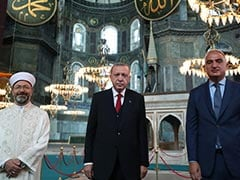 Turkish President Joins Thousands For First Time Prayers At Hagia Sophia