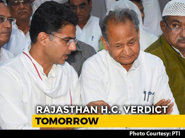 Video : In Team Pilot vs Congress, Rajasthan High Court Order At 10:30 AM Tomorrow