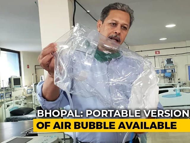 "Video : Bhopal Hospital Devises ""Air Bubble"" To Keep Corona Warriors Safe"
