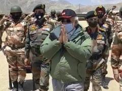 "Watch: Soldiers Chant ""Vande Mataram"" As PM Visits Ladakh Post"