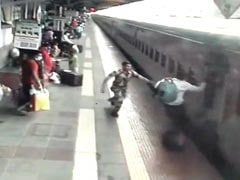Alert Security Personnel Save Man From Being Crushed By Train Near Mumbai