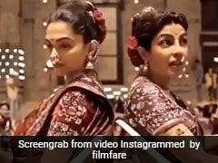 शूटिंग के दौरान दीपिका पादुकोण ने खोया संतुलन तो Priyanka Chopra ने यूं थामा- देखें Video