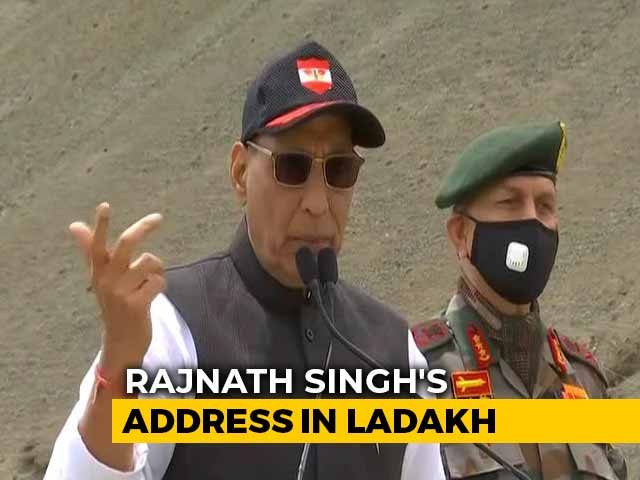 """Video : """"Not An Inch Of Our Land Can Be Taken"""": Rajnath Singh In Ladakh"""