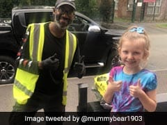 8-Year-Old Girl Learns Sign Language To Surprise Delivery Driver. Watch