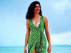 Nothing Makes Pooja Batra Smile Like A Walk On The Beach. See Pic