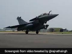 Watch: Rafale Fighter Jet Lands At Ambala Air Base