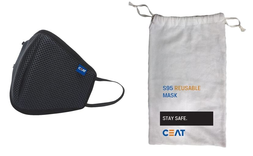 CEAT Tyres Launches GoSafe S95 Face Masks In India