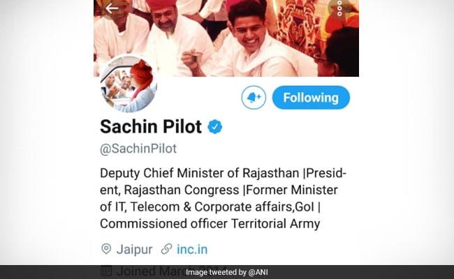 Sachin Pilot Changes Twitter Bio, Drops Congress Designations