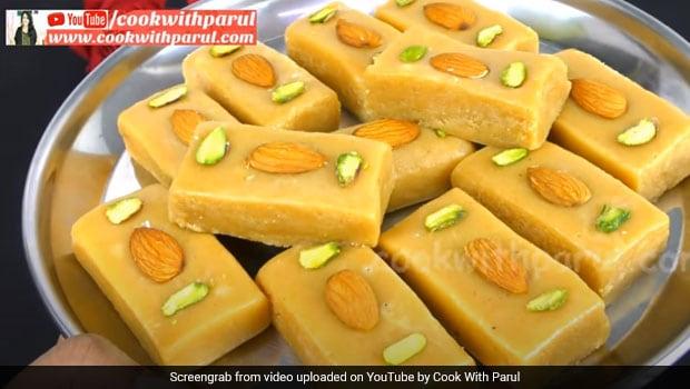 Teej 2020: Make Sooji Milk Cake Mithai Without Mawa At Home For The Festive Celebrations