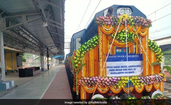 India Hands Over 10 Broad-Gauge Diesel Locomotives To Bangladesh