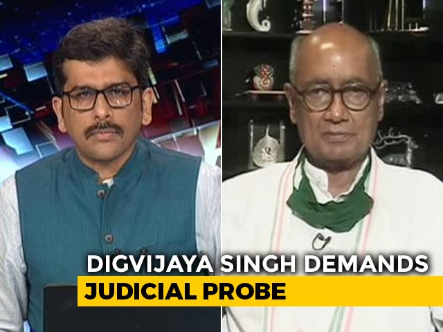 "Video : ""This Is A Staged Surrender, Staged Arrest"": Digvijaya Singh On Gangster's Arrest"
