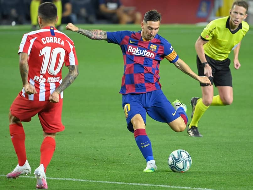 Lionel Messi Scores 700th Goal But Atletico Madrid Draw Hurts Barcelonas Title Hopes