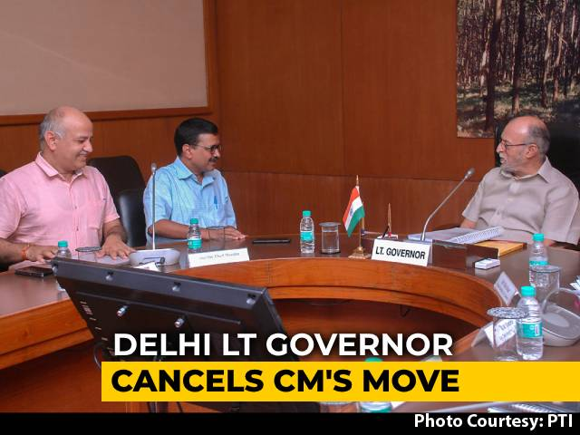 Video : Lt Governor Blocks Two Unlock3 Decisions By Arvind Kejriwal Government
