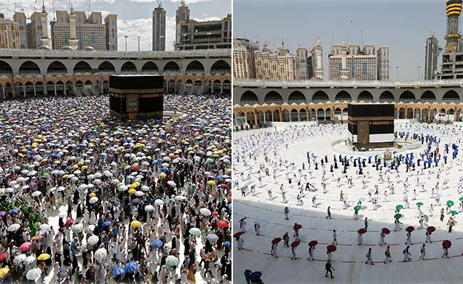 Striking Pics Show A Socially-Distanced Hajj In The Shadow Of The Coronavirus Pandemic