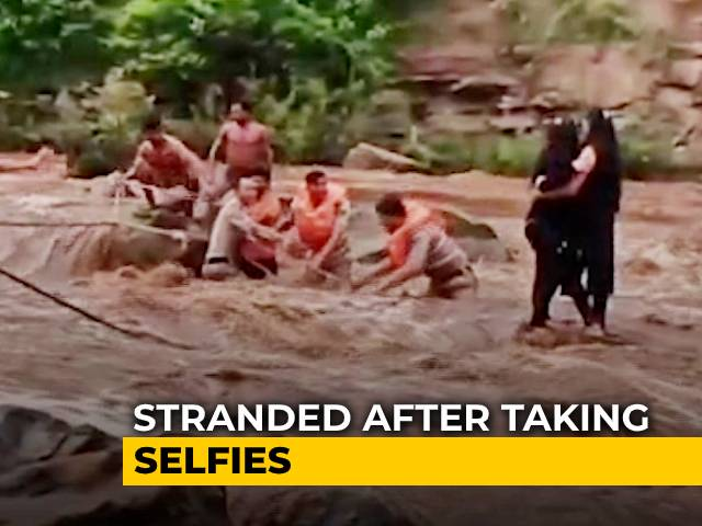 Video : Stranded After Taking Selfies, Two Women Rescued From River | NDTV Beeps