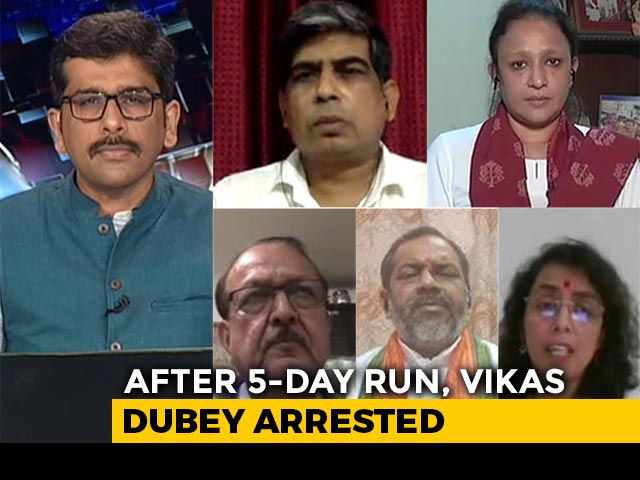 Video : After 6-Day Run, Gangster Vikas Dubey Arrested In Madhya Pradesh