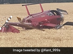 Miraculous Escape For 4 People After Helicopter Crashes In Field