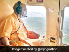 UP Chief Minister Yogi Adityanath Surveys Flood-Hit Areas In Gorakhpur
