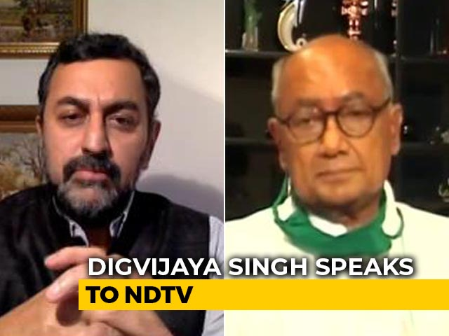 "Video : ""Sachin Pilot Won't Get From BJP What He Got From Congress"": Digvijaya Singh"