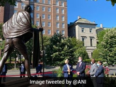 Mahatma Gandhi Statue Inaugurated In US Washington After Vandalism By Protesters