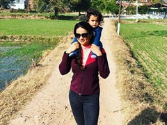"Gul Panag Recalls The Time When ""Carrying Son Nihal On Her Shoulders Was No Biggie"""