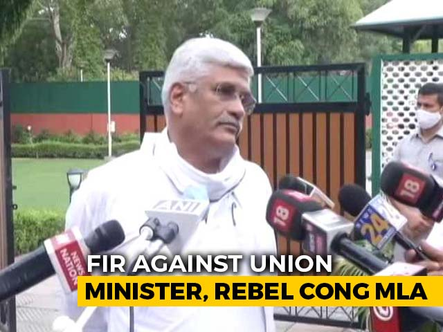 Video: In Rajasthan Drama, Case Filed Against Union Minister, Rebel Congress MLA