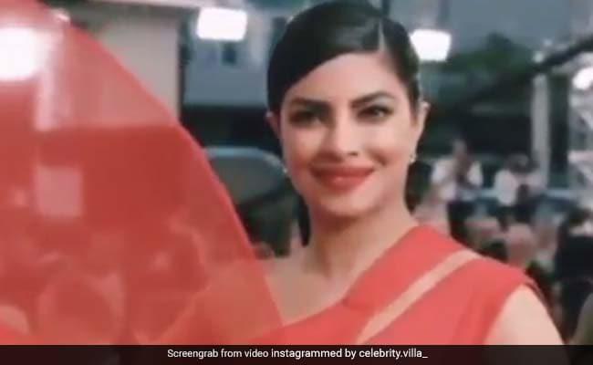 प्रियंका चोपड़ा ने रेड ड्रेस में मचाया धमाल, Video में दिखा जबरदस्त स्वैग