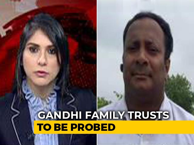 Video : Government Panel To Handle Investigations Against 3 Gandhi Family Trusts