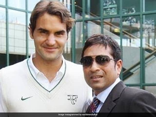 """Any Tips For My Forehand?"": Sachin Tendulkar Asks Roger Federer"