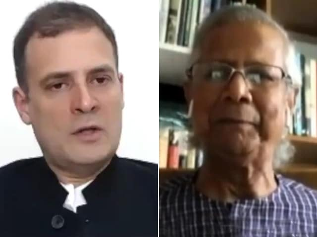 Video : Nobel Laureate Professor Yunus Interacts With Rahul Gandhi