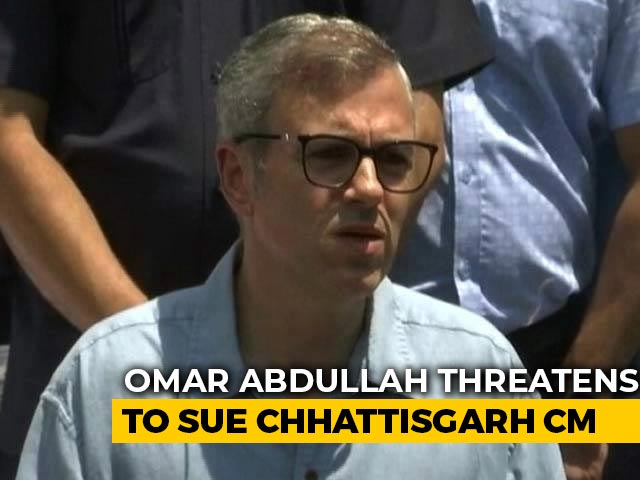 Video : Omar Abdullah Threatens To Sue Over Congress Leader's Sachin Pilot Dig