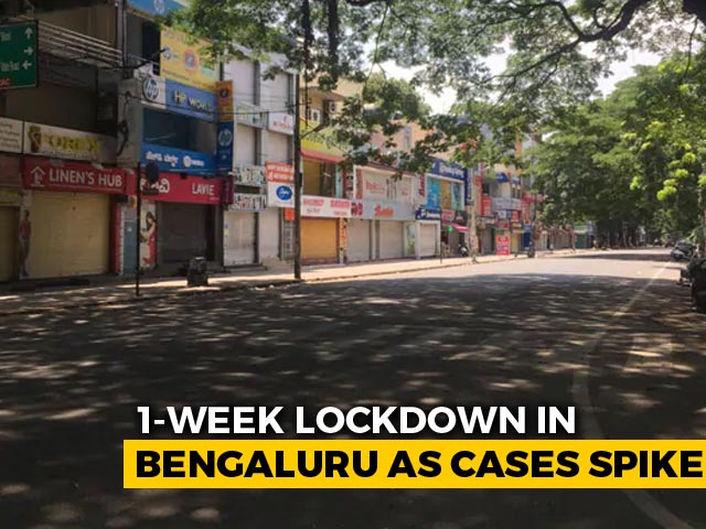 Video : Bengaluru's One-Week Lockdown Amid Rising COVID Cases To Begin Today