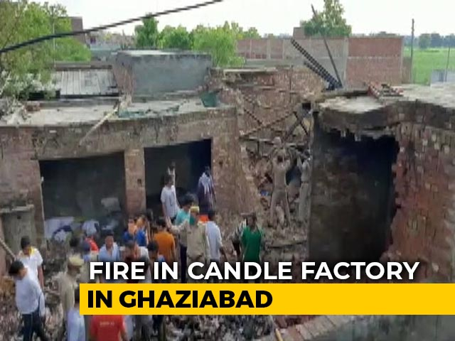 Video : 7 Workers Dead In Fire At Candle Factory Near Delhi