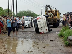 Car Tried To Avoid Cattle, Flipped, Then Vikas Dubey Tried To Escape: Cops