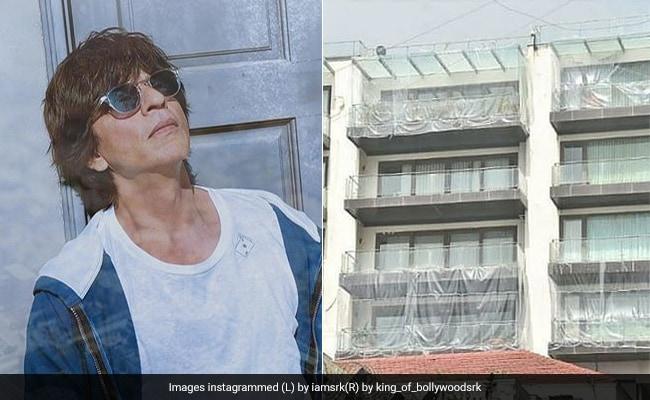 शाहरुख खान के बंगले 'मन्नत' को ढका गया प्लास्टिक शीट्स से, जानिए इसके पीछे की वजह