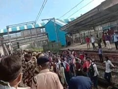 Police Disperse Crowd Demanding Permission To Board Mumbai Local Trains