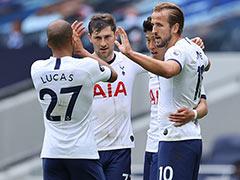 Tottenham Striker Harry Kane's Double Dents Leicester's Champions League Bid