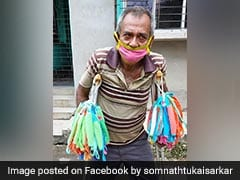 Bengal Actor-MP Offers Help To Elderly Man, On Crutches, Selling Masks