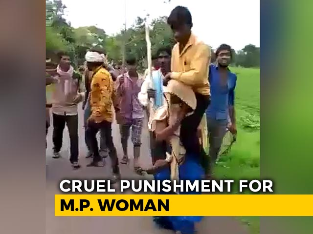 Video : Woman Shamed, Forced To Carry Husband And Walk. Villagers Shot Videos