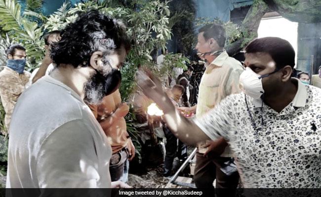 Kiccha Sudeep Starts Filming Phantom; Says, 'Have Taken Steps To Remain Safe'