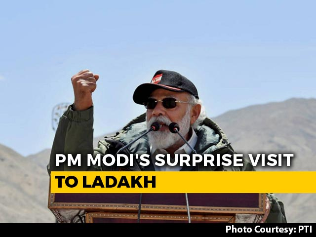 """Video : At Ladakh, PM Modi's Strong Message Against """"Expansionism"""""""