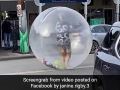 Man Walks Around In Giant Plastic Bubble Amid Pandemic. Watch