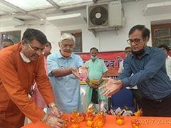 विहिप के द्वारा राम मंदिर की नींव में डालने के लिए अयोध्या रवाना की गई  दिल्ली के 11 स्थानों की मिट्टी