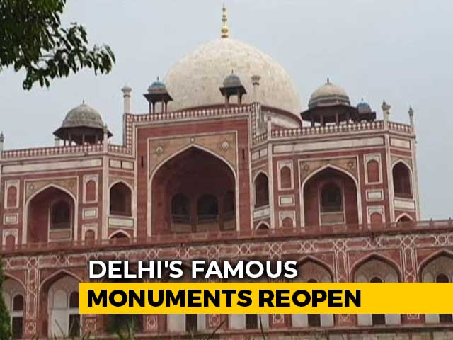 Video : Delhi Monuments Reopen With Covid Safety Measures, Visitors Steer Clear