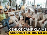 Video : Team Gehlot At Hotel, Party Resolution Targets Sachin Pilot