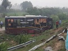 6 Killed, 18 Injured In Bus-Car Collision On UP's Lucknow-Agra Expressway