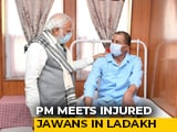 "Video : PM Modi Visits Injured Soldiers In Ladakh, Praises ""<i>Karara Jawab</i>"""