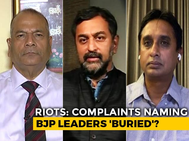Video : Police 'Cover Up' Of BJP Role In Riots?